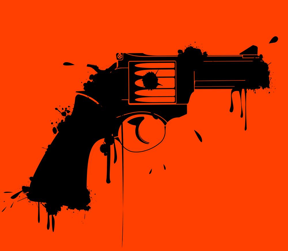 Gun-red-black